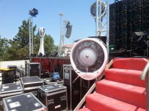 Climatizador em shows ao ar livre